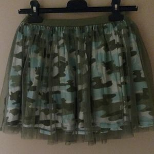 Justice kids camouflage skirt